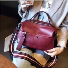 High Quality Genuine Leather shoulder Bags for Women 2020 Womans Handbag For Girl Luxury Designer Casual Messenger Bag Female