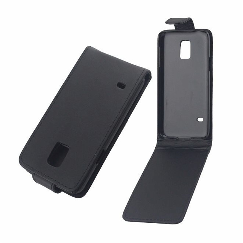 Kožená pouzdra na telefon z PU kůže Flip Cover pro Samsung Galaxy S5 mini G800, zadní telefonní tašky, vertikální up-down otevřený kožený pouzdro