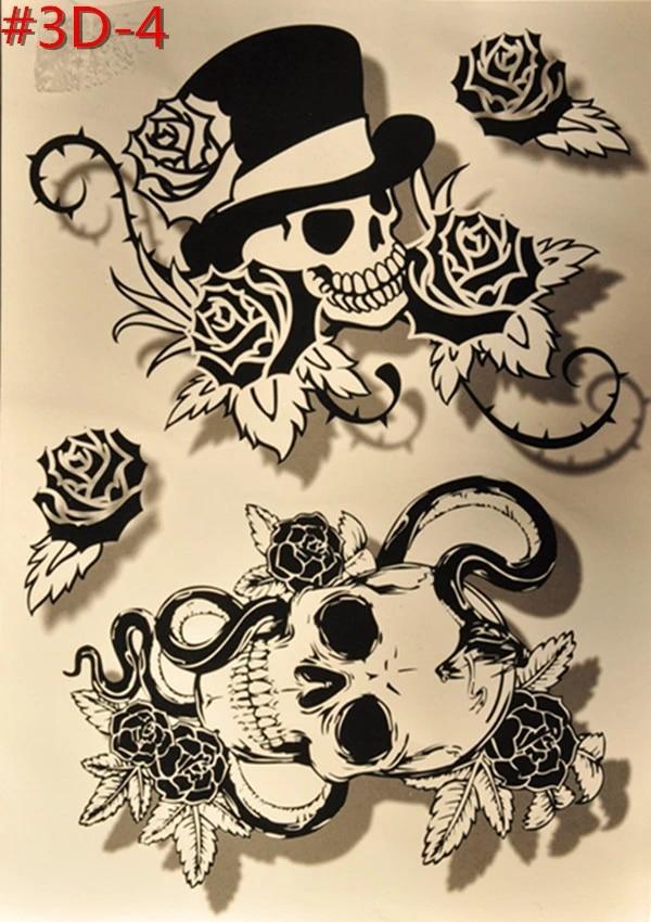 Tato Punggung Pria : punggung, Desain, Kreatif, Tengkorak, Sementara, Tato,, Punggung, Wanita, Pakai, Tahan, Flash, Tattoo3b, 024|tattoos, Bikini|tattoos, Spidertattoo, Pictures, Flowers, AliExpress