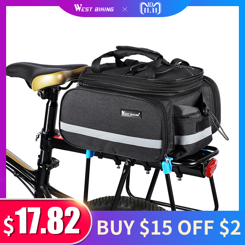 WEST BIKING Bicycle Bags Large Capacity Waterproof Cycling Camel Bag Mountain Bike Saddle Trunk Bags Luggage Carrier Bike Bag west biking 22l long journey travelling climbing cycling backpack sport waterproof mtb bag mountain bike bicycle riding bags