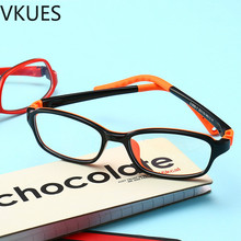 VKUES Kids Blue Light Blocking Glasses Silicone Frame Computer Anti Ray Children Transparent Reading Flat Mirror