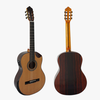 Solid Top Rosewood Body Vintage Spanish Classical Guitar With Bowl Cutway And Solid Armrest SC02CRCN