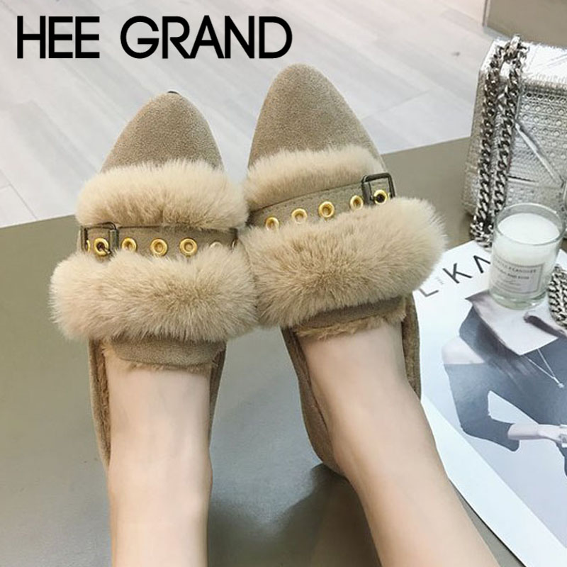 Women Shoes Low-Heel Pointed-Toes Winter GRAND Rubber with Short XWD7149 New-Arrive