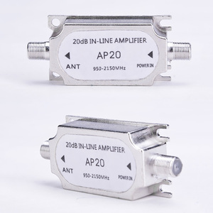 Image 3 - Wholesale Satellite TV Tuner Inline Amplifier 20dB Signal Booster Strengthen for Dish Network Antenna All Satellite Applications
