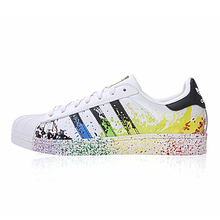 32383ccba8 Adidas STAN SMITH Gold Label Clover Superstar Men And Women Skateboarding Shoes  White Green Wearable Lightweight