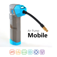electric bicycle pump Car Tire Bike Pump Auto Electric Air Inflator Bicycle Pump with LCD Display 6000mAH Power bank