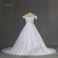 Plus Size Full Lace Luxury Ball Gown Wedding Dresses 2017 Robe De Mariage Mid East Vestido