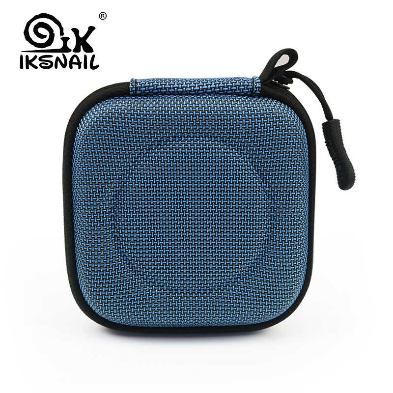 IKSNAIL Headphone Case Bag Portable Earphone Earbuds Hard Box Storage For Memory Card USB Cable Organizer Mini Earphone Bags
