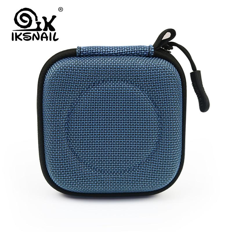 IKSNAI 헤드폰 케이스 가방 휴대용 이어폰 이어 버드 - 휴대용 오디오 및 비디오