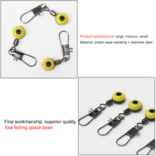 DONQL 50pcs/lot Fishing Line Hook Shank Clip Connector Interlock Snap Sea Space Bean Fishing Float