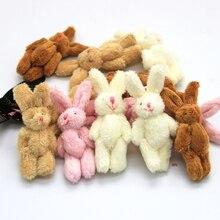 10 PCS Mini 6 CM Coelho Conjunta Pequeno Plush Stuffed TOY BONECA, vestuário & Acessórios Para o Cabelo Decoração Bonecas Brinquedos de Pelúcia