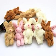 10 PCS Mini 6CM Joint Rabbit Little Plush Stuffed TOY DOLL , Garment & Hair Accessories Decor Plush Toys Dolls