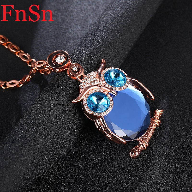 Owl Necklaces&Pendants Women Trendy Crystal Charms Chokers Collar - Fashion Jewelry - Photo 5