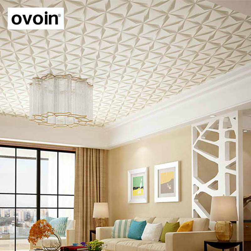 Statement Modern 3D Ceiling Wall Paper Walls Gray Textured ...