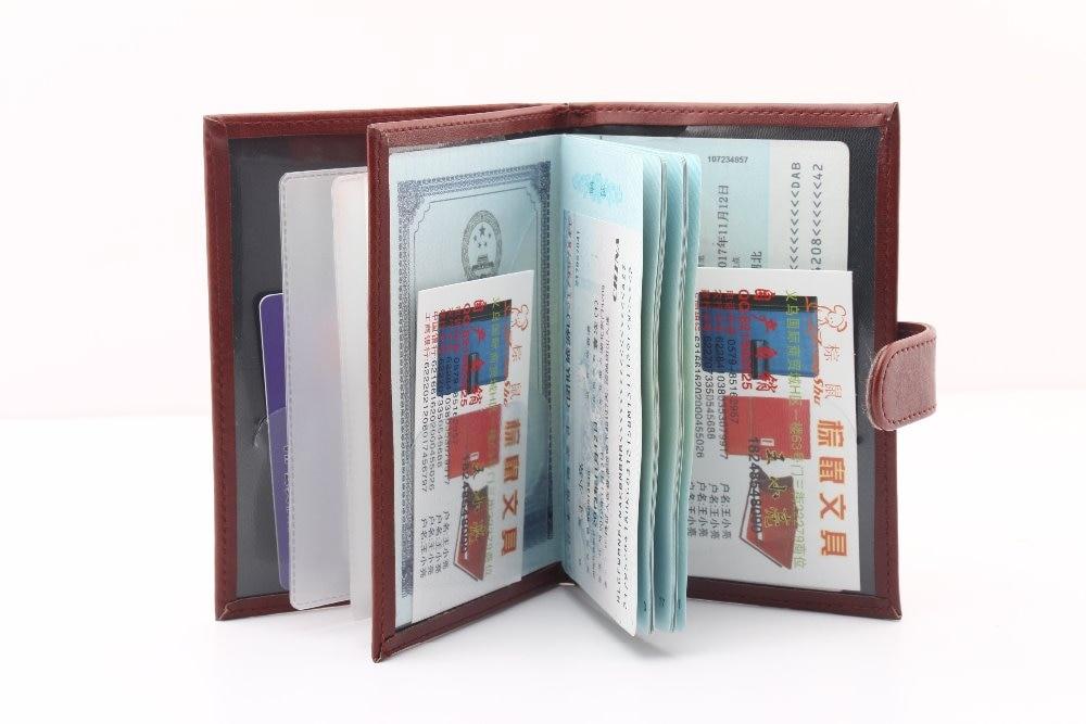 Марка многофункциональный Путешествия кожа pu Владельца паспорта Документ Карты обложка для паспорта дело владельца паспорта бумажник Защитную Крышку
