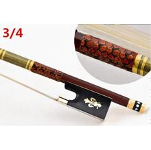 High quality violin bow size 3/4 violino brazilwood wood Bow Horse hair violin accessory bow accessories para violino