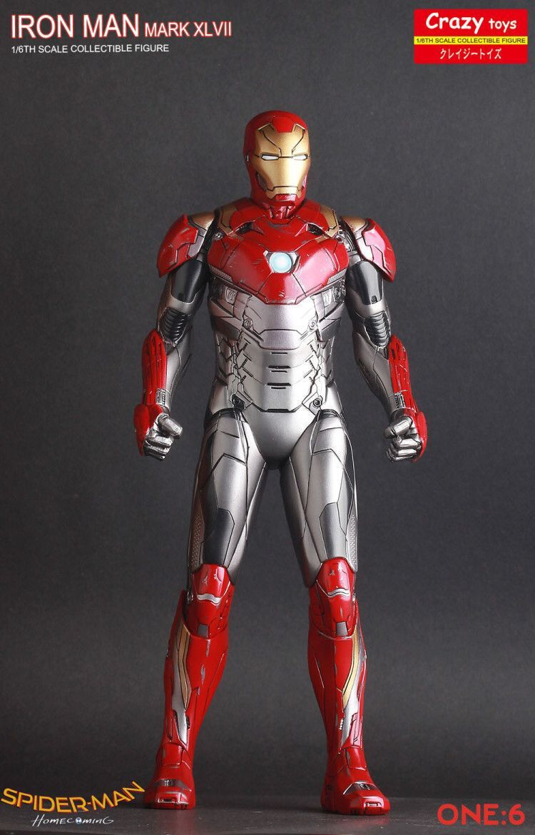 Ironman Mark XLVII Mk47 1/6 scale Iron Man Crazy Toys Action Figure