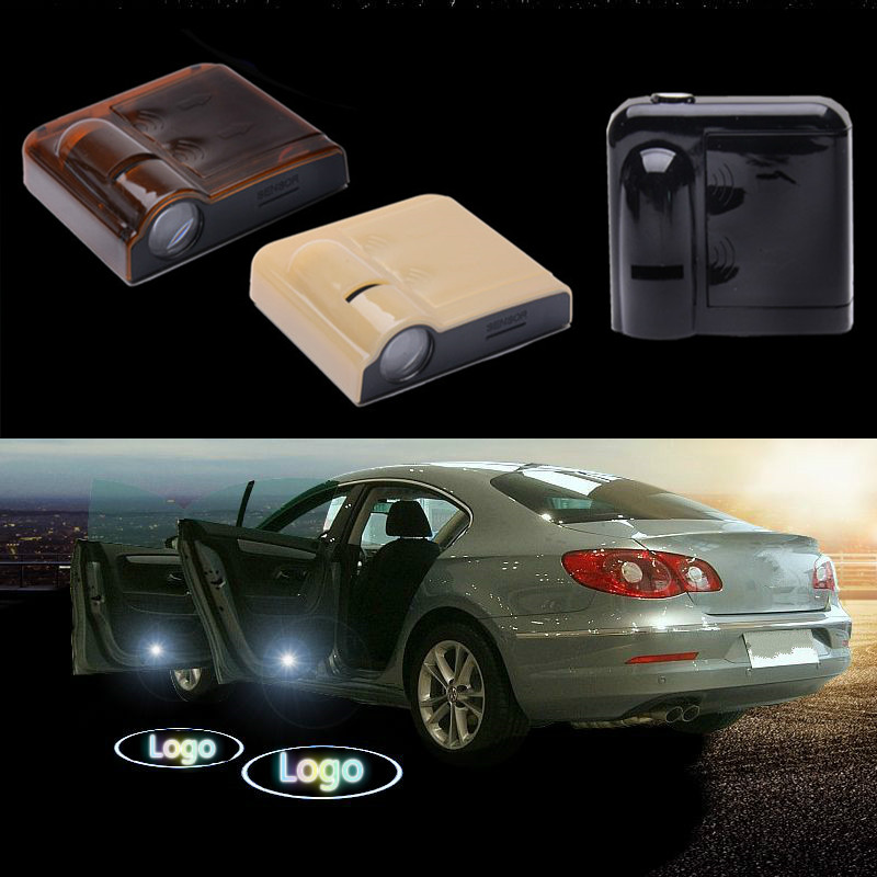 2Pcs Wireless Projector Auto Logo Shadow Door Welcome Step LED Light For Mazda logo light 2pcs projector laser auto open door welcome step logo led lights for ford blue mustang 50 years 5139