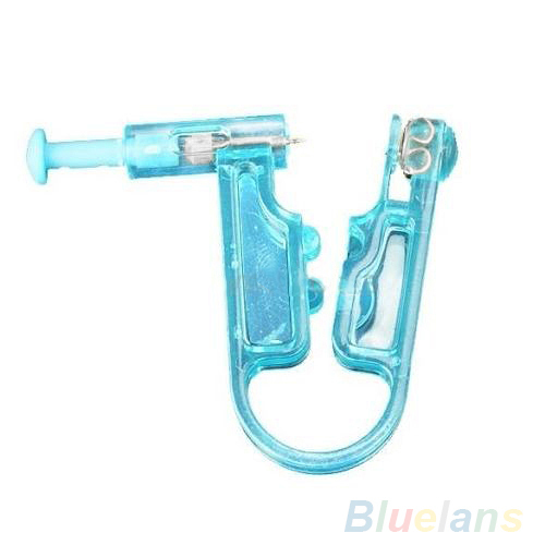 Bluelans 24 סטים חדש עיצוב חד פעמי בטיחות אוזן פירסינג אקדח יחידה כלי עם אוזן Stud Asepsis פירס קיט