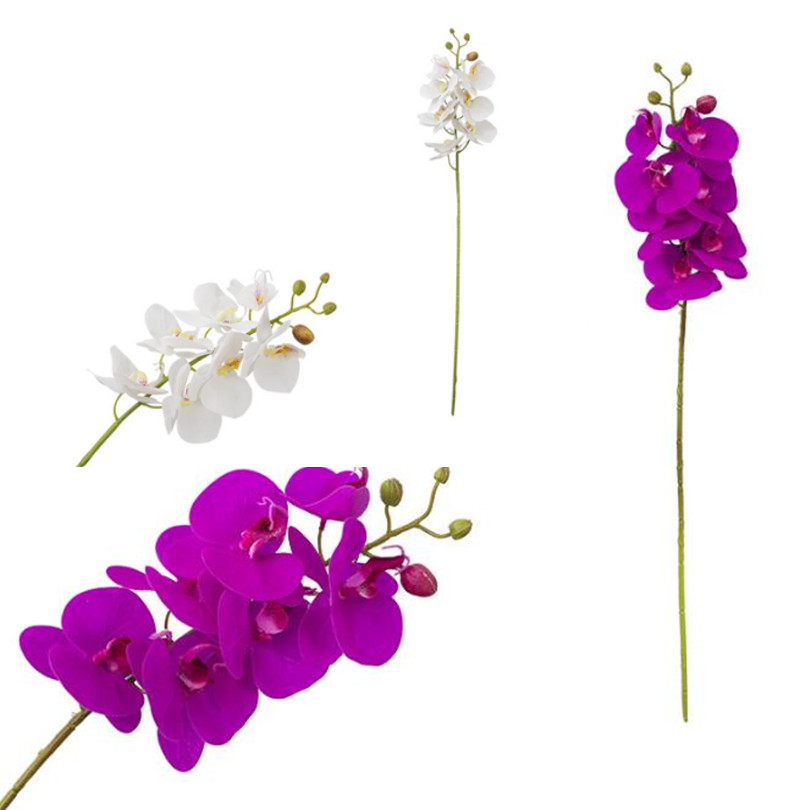 11pcs Real Touch Butterfly Orchid Flower Fake Cymbidium PU Phalaenopsis Orchids for Wedding Centerpieces Artificial Flowera