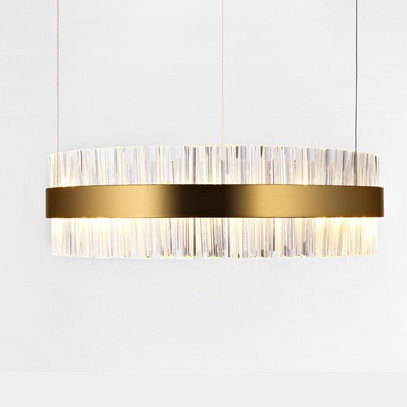Vintage lustre en cristal éclairage bougie lustres RH pendentif suspension pour salon et salle à manger décor lampe à LED