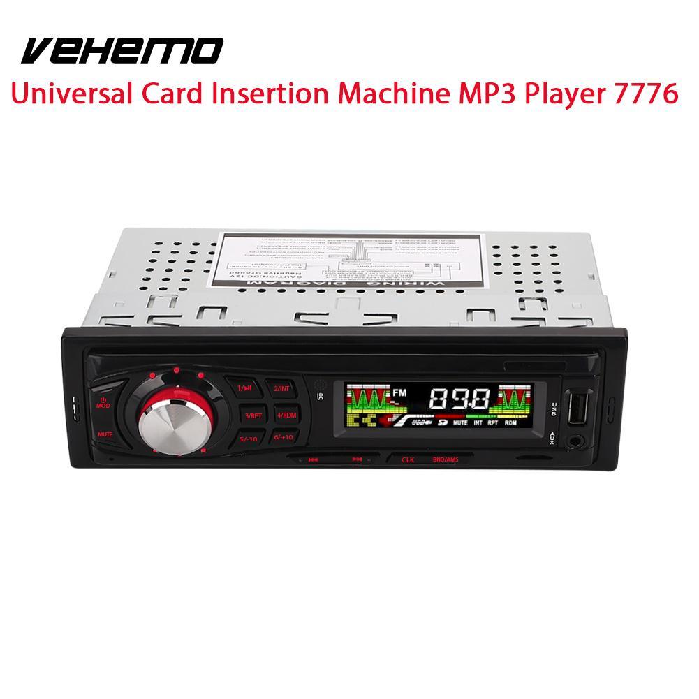 Vehemo AUX/USB/TF Stereo Car Radio Auto Audio Auto Car MP3 Player AUX Input Vehicle 12V U Disk