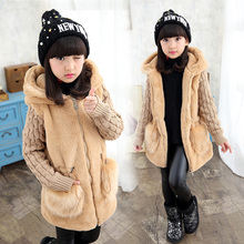 new winter children clothing baby girls outerwear plus velvet thickening autumn and winter faux medium-long wadded jacket  цена 2017