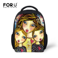 FORUDESIGNS 12 Inch School Bags for Children,Small Girls Cute Princess Bookbag,Fashion Cartoon Schoolbag for Baby Kids Book Bag