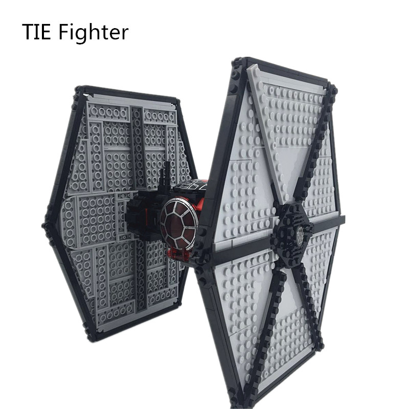 Diy Model First Order Special Forces TIE Fighter StarWars Building Block Bricks Toys for Boys Compatible with Legoingly 75101 new 845pcs star wars first order transporter model building blocks bricks toys compatible with legoingly starwars children model