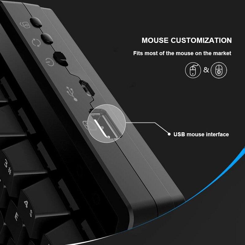 CHAUDE 28 Touches D'une Conception de La Main clavier mécanique Sans Fil pour Esport Gaming PUBG Mobile Jeux livraison directe