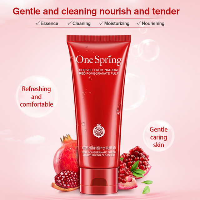 Foaming Blackhead and Pimples Treatment Pomegranate Essence Facial Cleanser