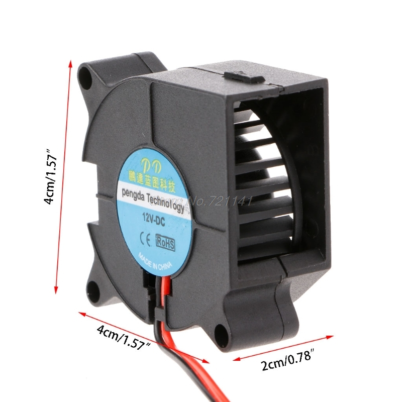 DC 12V 2-Pin Brushless Cooling Cooler Centrifugal Blower Fan 4020 Electronics Stocks