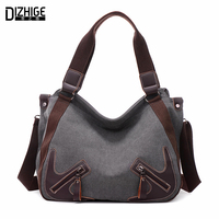 DIZHIGE Brand Casual Canva Women Bags Leather Shoulder Bag Designer Ladies Hand Bag Tote Sac A