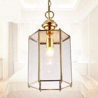 Творческий ресторан освещение Медь Подвесной светильник водонепроницаемый Европейский стиль гостиная, спальня Американский вилла smallcl