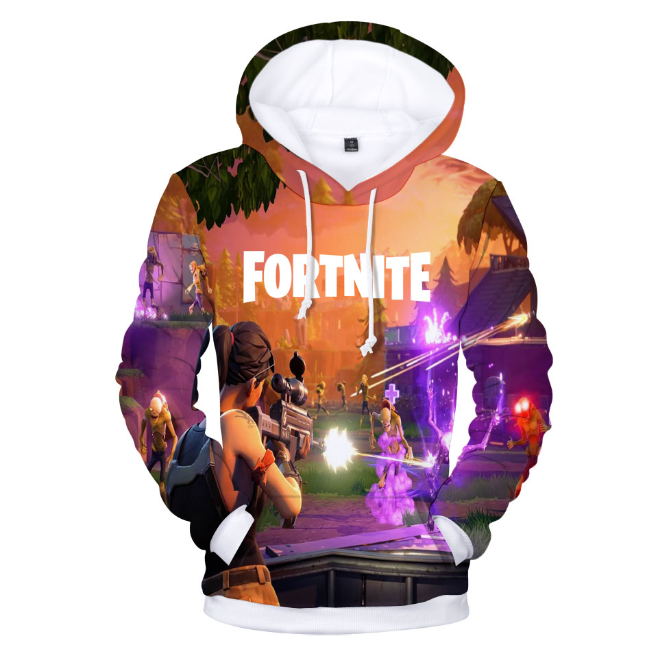 Fortnite Hooded Hoodies 3D Print Sweatshirt Tops Pullovers Fashion Pop TGA FPS Game Sweatshirts Men Long Casual Fans Clothes