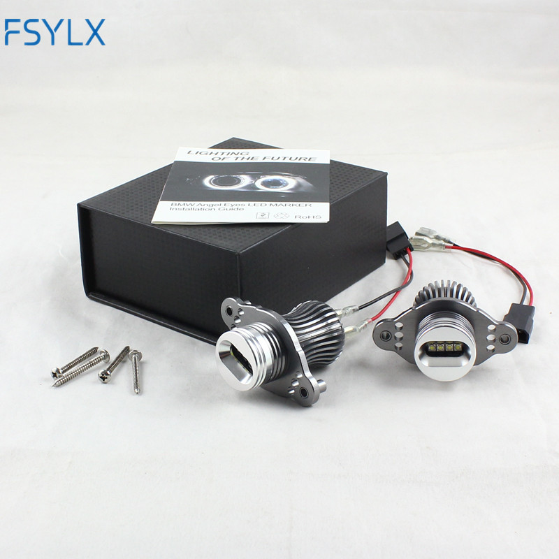 FSYLX LED angle eyes headlights for BMW E90 E91 LCI with halogen 40w led marker angel eyes for bmw e91 e90 lci LED halo rings sun power бальзам после загара 250мл с пантенолом