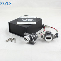 FSYLX LED angel eyes headlights for BMW E90 E91 LCI with halogen 40w led marker angel eyes for bmw e91 e90 lci LED halo rings