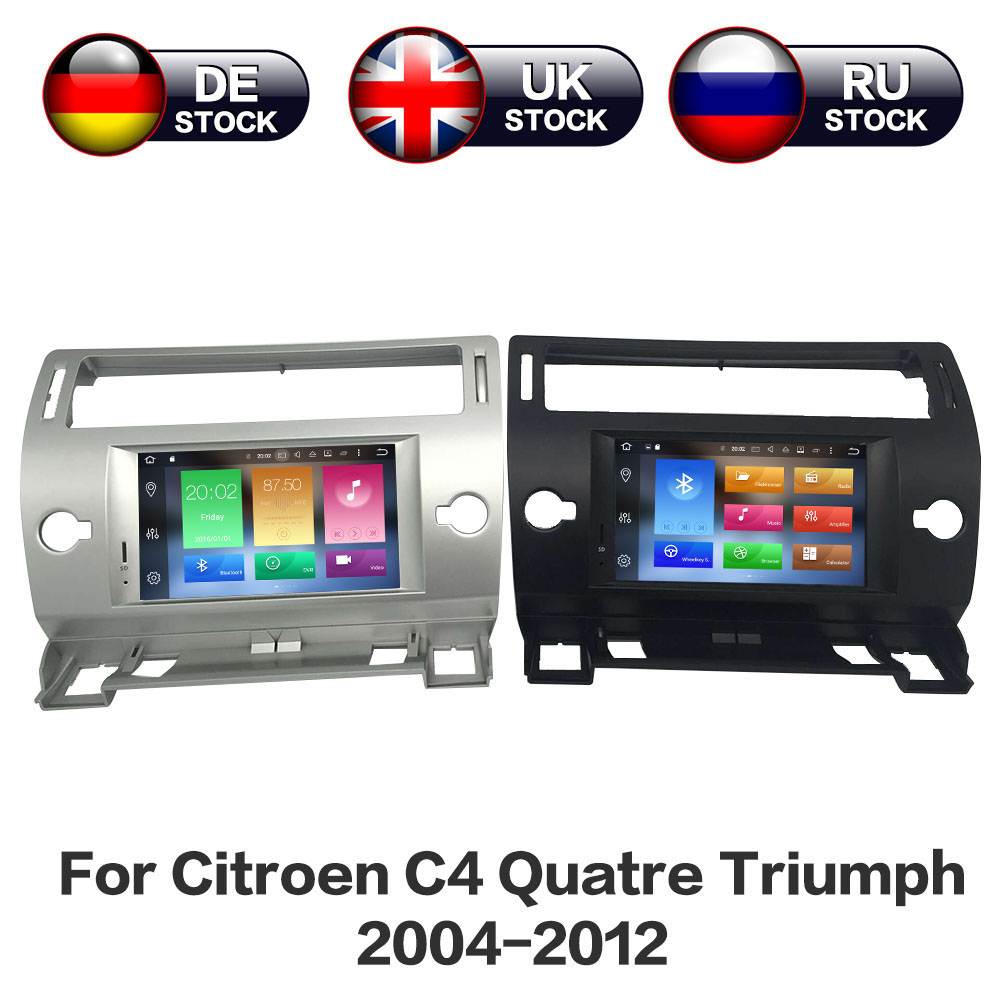 цена на Android 8.0 8 Core RAM 4GB ROM 32GB Car GPS Navigation DVD Player For Citroen C4 Quatre Triumph 2004-2012 Stereo IPS Screen