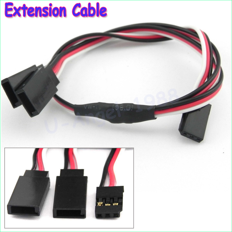 5pcs/lot 300mm 500mm RC Servo Y Extension Cord Cable Lead Wire For JR Futaba