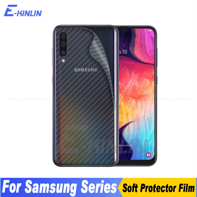 Carbon Fiber Back Cover Screen Protector For Samsung Galaxy M20 M30 A10 A20 A30 A40 A50 A60 A70 A80 A90 5G Sticker Film No Glass