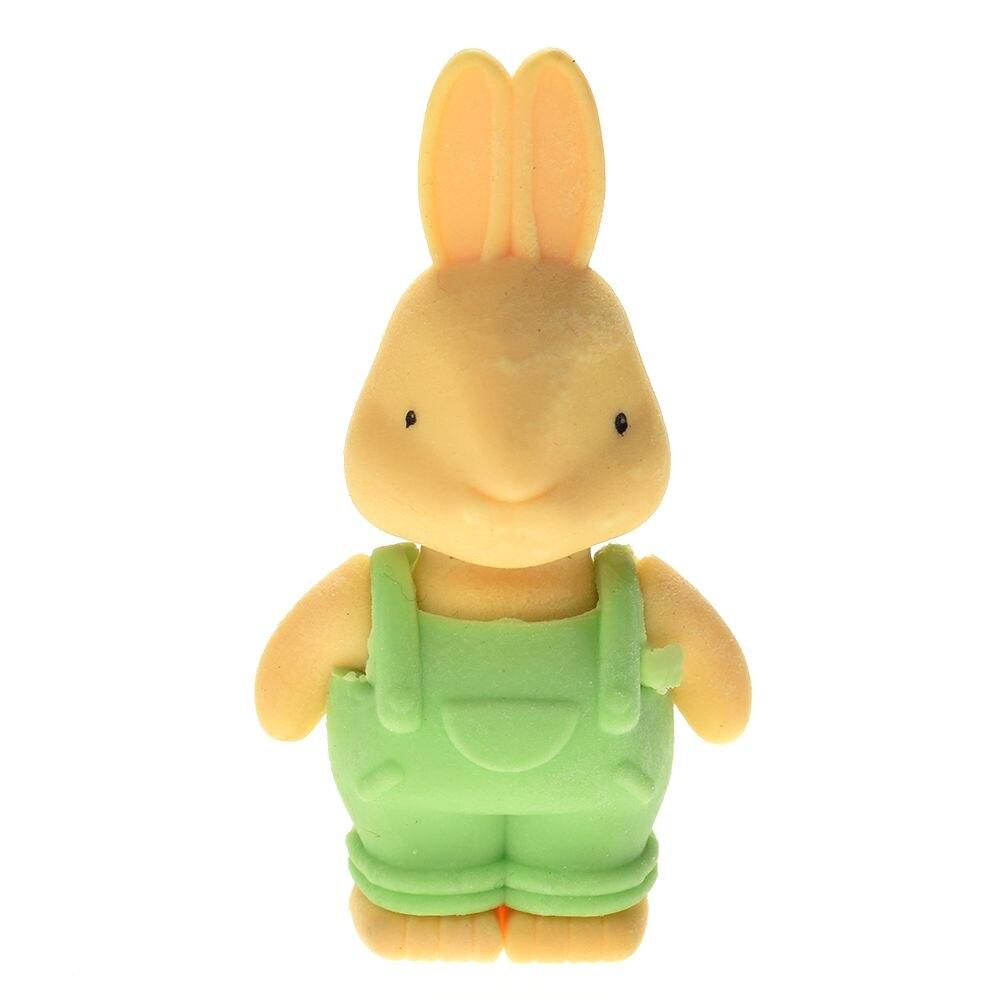 1 Pc Cute Cartoon Lovely Bib Pants Cute Rabbit Eraser Children Learning Stationery Gift Prize Kawaii School Supplies Papelaria