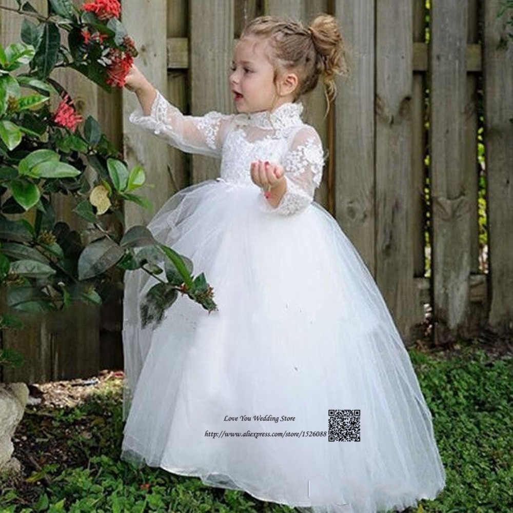 Flower Girl Dresses For Garden Weddings: Cheap White Lace Flower Girl Dresses For Weddings High