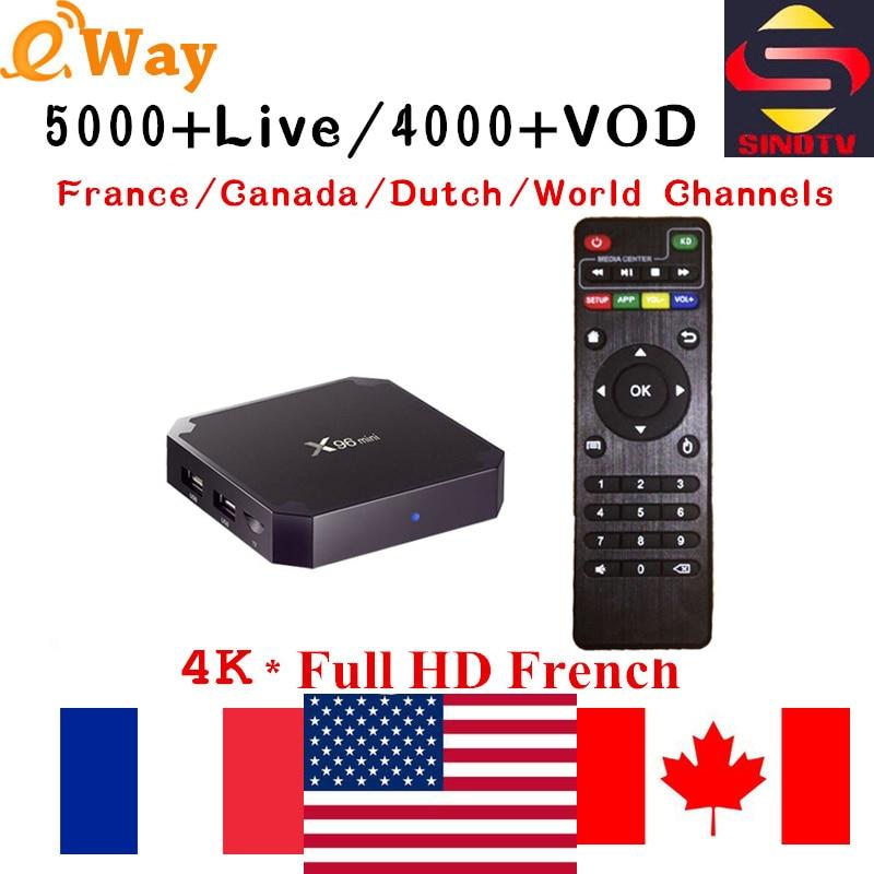 X96 Mini Smart TV Box With 1 Year 4500 Channels SINOTV app IPTV Full HD 4K