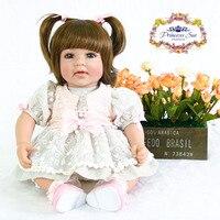 50 см Силиконовые винил возрождается девочка игрушки куклы 20 дюймов принцессы для малышей куклы ребенок мода подарок на день рождения играт