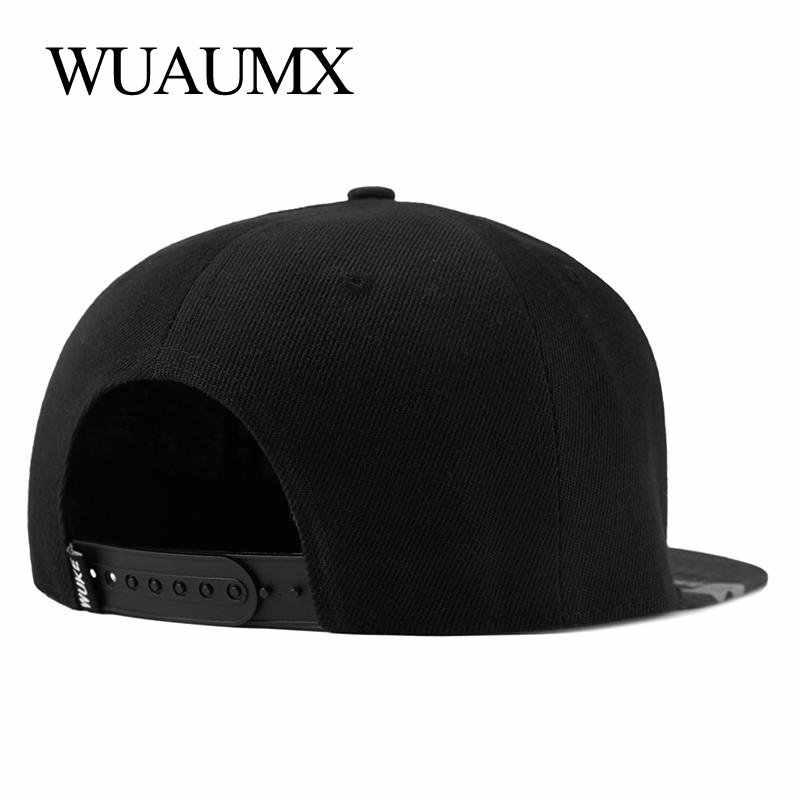 069cb1247cd9 Wuaumx Snapback gorras para hombre Hip Hop ala plana recta sombrero para  las mujeres gorras de béisbol ,gorras para hombre de marca, gorra hombre,  ...