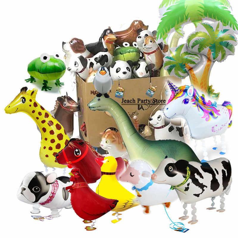犬牛豚カエルアヒル猫ウォーキングペット風船誕生日パーティーの装飾用品の漫画の動物形のペットウォーキング風船