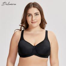 DELIMIRA Womens Full Coverage Underwire Seamless Lightly Padded Basic T shirt Bra