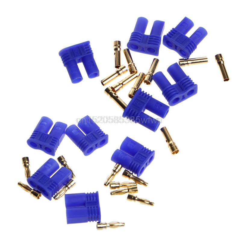5 Pairs EC2 2 0mm RC Lipo Battery Connector Gold Bullet Banana Plug Male Female HC6U