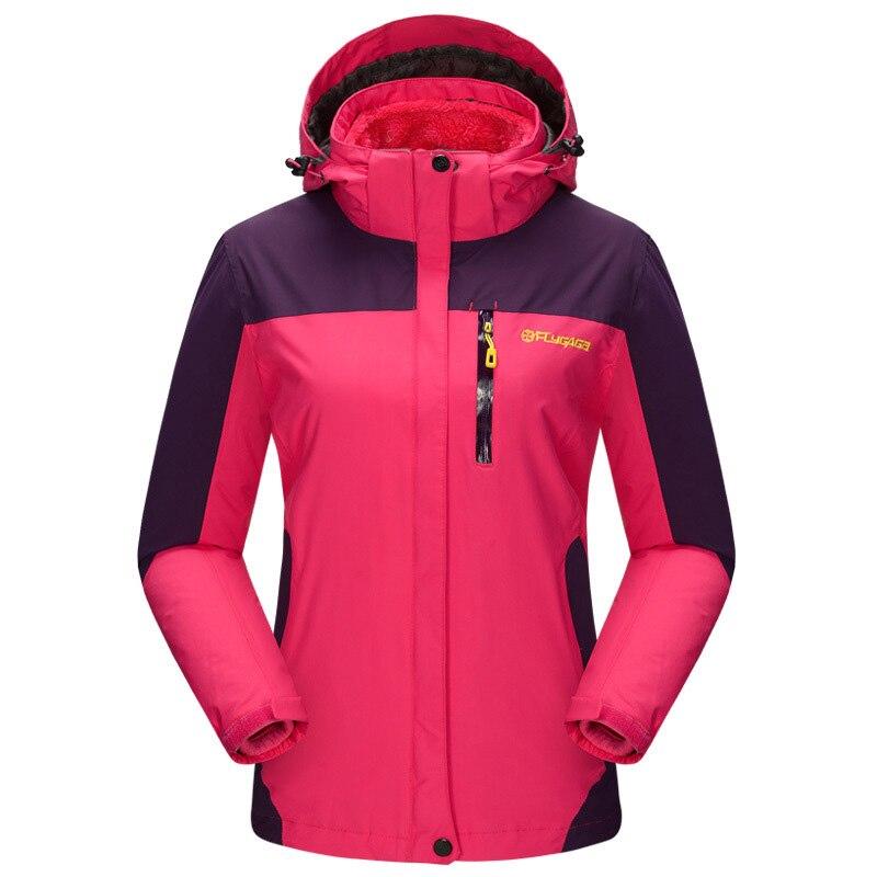 Модные зимние, jaqueta feminina на открытом воздухе теплые пальто  Водонепроницаемый куртка Для женщин съемная флисовая внутренняя Chaquetas  Mujer f4c4f666094