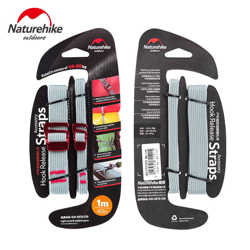 NatureHike Baggage Belt Hook Clip Handsfree Easy Travelling Hold Luggage Belt Straps Fixed Clip Fasteners NH15K001-B